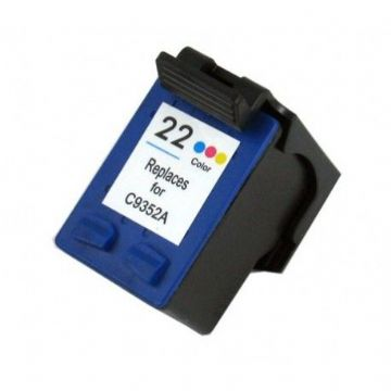 HP No. 22 Refurbished Tri Colour Refurbished Ink Cartridge C9352AE